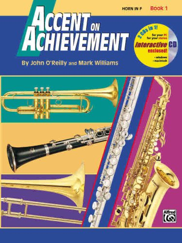 Accent on Achievement, Bk 1 Horn in F, Book and CD  1997 edition cover