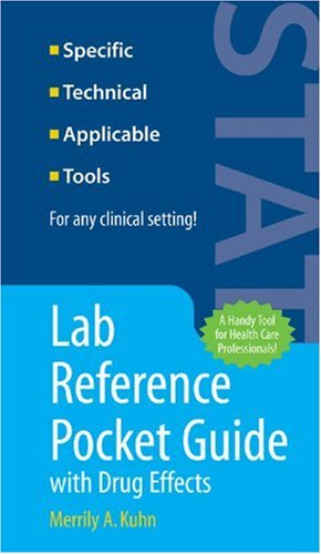 Lab Reference Pocket Guide with Drug Effects   2007 edition cover