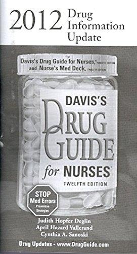 2012 Drug Information Update For Davis's Drug Guide for Nurses 12th (Revised) edition cover