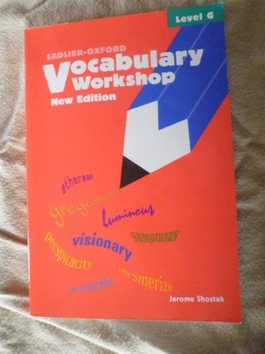 Vocabulary Workshop : Level G 1st 9780821571125 Front Cover