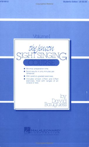 Jenson Sight Singing Course  Student Manual, Study Guide, etc. edition cover