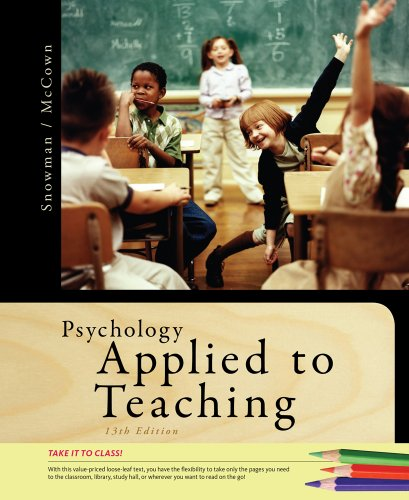 Psychology Applied to Teaching  13th 2012 edition cover