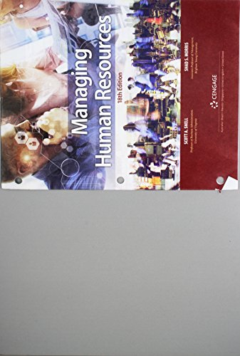 Bundle: Managing Human Resources, Loose-Leaf Version, 18th + MindTap Management, 1 Term (6 Months) Printed Access Card  18th 9781337738125 Front Cover