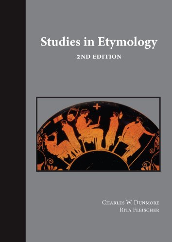 Studies in Etymology  2nd 2008 (Revised) edition cover