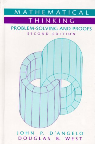 Mathematical Thinking Problem-Solving and Proofs 2nd 2000 (Revised) edition cover
