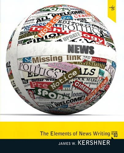 Elements of News Writing  3rd 2012 (Revised) edition cover