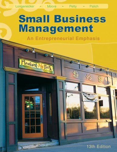 Small Business Management An Entrepreneurial Emphasis 13th 2006 edition cover