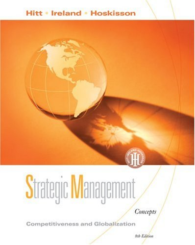 Strategic Management Competitiveness and Globalization, Concepts 8th 2009 edition cover