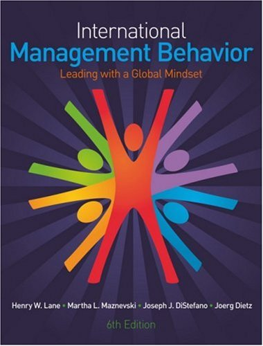 International Management Behavior Leading with a Global Mindset 6th 2009 edition cover