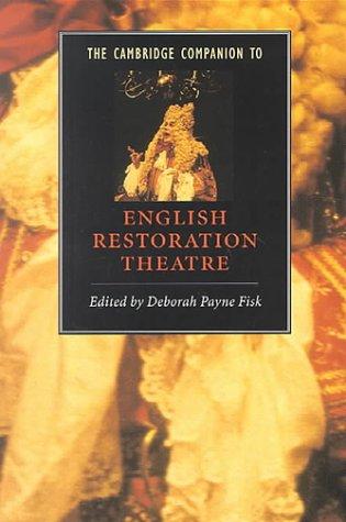 Cambridge Companion to English Restoration Theatre   2000 edition cover