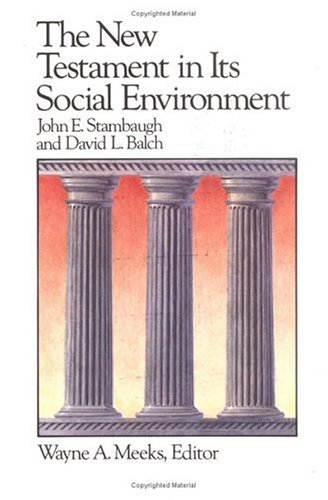 New Testament in Its Social Environment  Reprint  edition cover