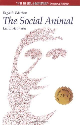Social Animal 8th 1999 edition cover