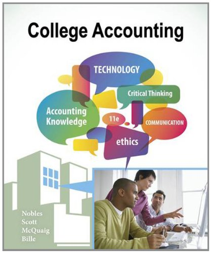 College Accounting, Chapters 1-12  11th 2013 edition cover
