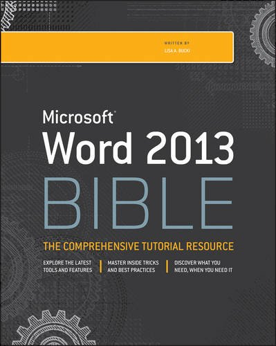 Word 2013 Bible  4th 2013 edition cover