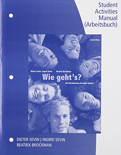 Wie Geht's? Student Activity Manual:   2014 edition cover