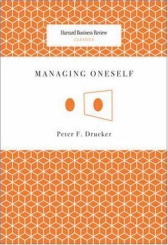 Managing Oneself   2008 9781422123126 Front Cover