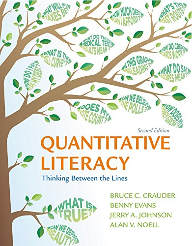 Quantitative Literacy: Thinking Between the Lines 2nd edition cover