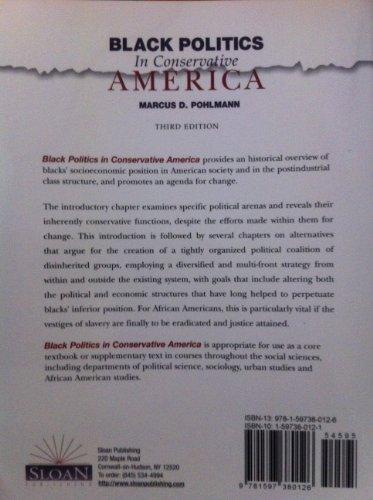 Black Politics in Conservative America 3rd 2008 edition cover