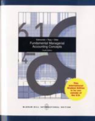Fundamental Managerial Accounting Concepts  2006 9780071101127 Front Cover