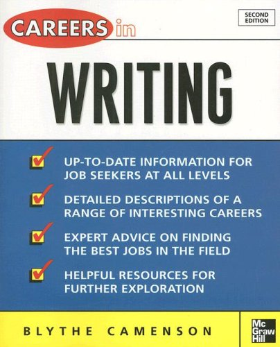 Careers in Writing  2nd 2008 edition cover