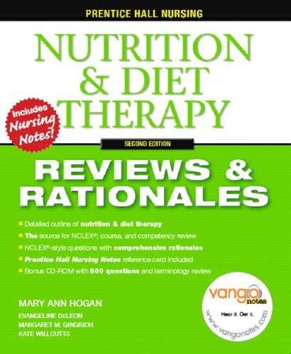 Nutrition and Diet Therapy Reviews and Rationales 2nd 2007 edition cover