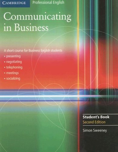 Communicating in Business  2nd 2007 edition cover
