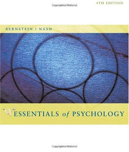 Essentials of Psychology  4th 2008 edition cover