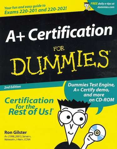 A+ Certification for Dummies  2nd 2001 edition cover