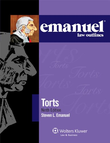 Torts  9th 2011 (Student Manual, Study Guide, etc.) edition cover