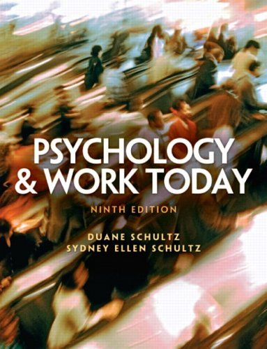 Psychology and Work Today  9th 2006 (Revised) edition cover
