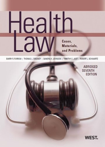 Health Law Cases, Materials and Problems 7th 2013 edition cover