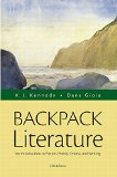 Backpack Literature: An Introduction to Fiction, Poetry, Drama, and Writing  2015 9780321968128 Front Cover