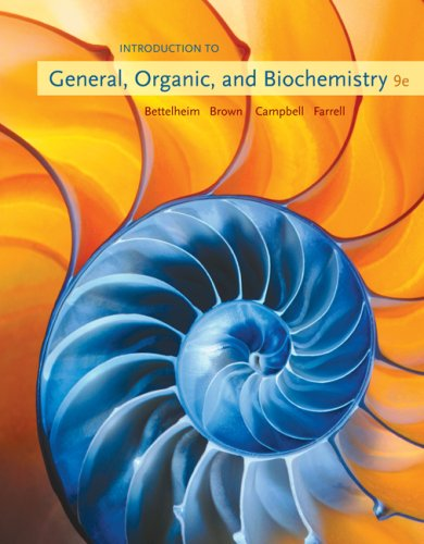 Introduction to General, Organic and Biochemistry  9th 2010 edition cover