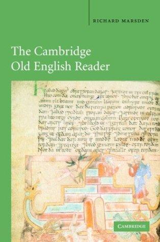 Cambridge Old English Reader   2003 edition cover