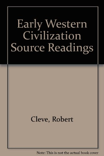 Early Western Civilization Source Readings  2nd 2010 (Revised) 9780757527128 Front Cover