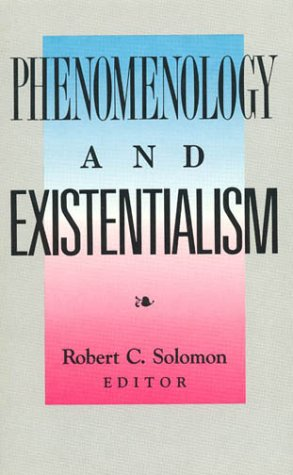 Phenomenology and Existentialism  Reprint edition cover