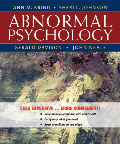 Abnormal Psychology  12th 2013 edition cover
