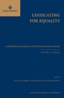 Legislating for Equality: A Multinational Collection of Non-discrimination Norms, Europe  2012 edition cover