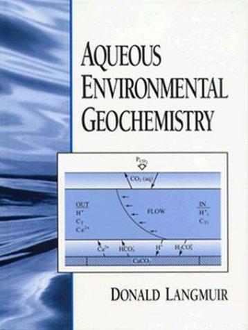 Aqueous Environmental Geochemistry   1997 edition cover