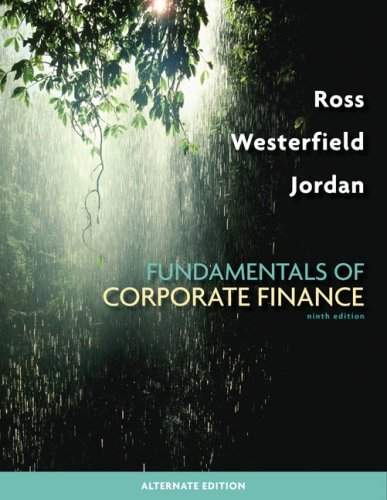 Fundamentals of Corporate Finance Alternate Edition  9th 2010 edition cover