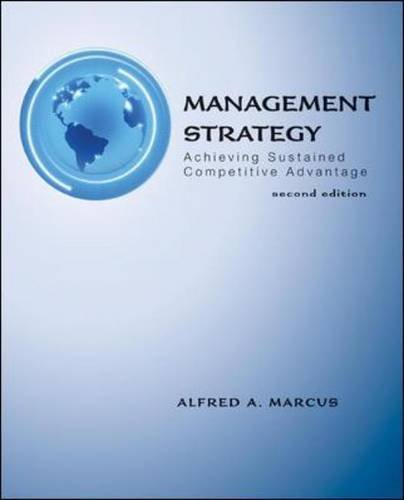 Management Strategy Achieving Sustained Competitive Advantage 2nd 2011 edition cover
