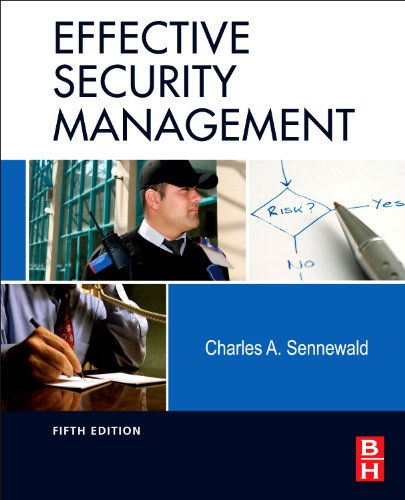 Effective Security Management  5th 2011 edition cover