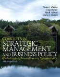 Concepts in Strategic Management and Business Policy:   2014 edition cover