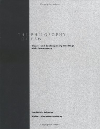 Philosophy of Law Classic and Contemporary Readings with Commentary  1996 edition cover