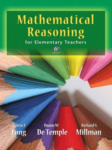 Mathematical Reasoning for Elementary School Teachers  6th 2012 edition cover