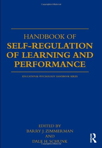 Handbook of Self-Regulation of Learning and Performance   2011 edition cover