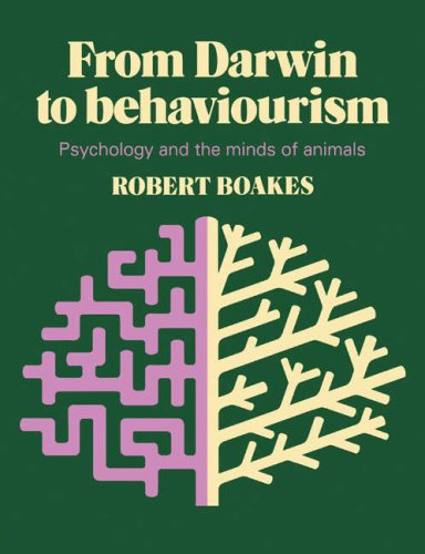 From Darwin to Behaviourism Psychology and the Minds of Animals  1984 edition cover