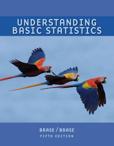 Understanding Basic Statistics  5th 2010 (Brief Edition) 9780547145129 Front Cover