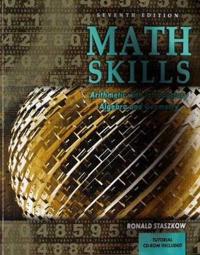 Math Skills Arithmetic with Introductory Algebra and Geometry 7th 2007 (Revised) edition cover