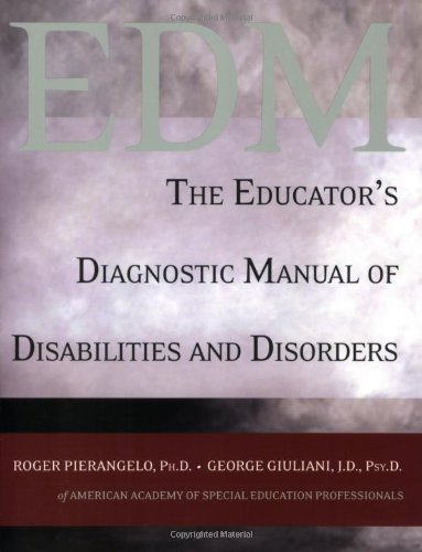 Educator's Diagnostic Manual of Disabilities and Disorders   2007 edition cover